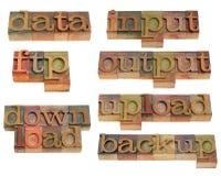 Datenhandhaben auf Internet Stockbild