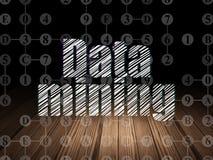 Datenkonzept: Data - Mining in der Schmutzdunkelkammer vektor abbildung