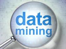 Datenkonzept: Data - Mining mit optischem Glas lizenzfreie abbildung