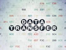 Datenkonzept: Datenübertragung auf Digital-Daten-Papierhintergrund Stockfotos