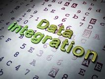 Datenkonzept:  Daten-Integration auf Hexadezimalcodehintergrund lizenzfreies stockfoto