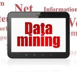 Datenkonzept: Tablet-Computer mit Data - Mining auf Anzeige vektor abbildung