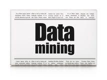 Datenkonzept: Zeitungsschlagzeile Data - Mining lizenzfreie abbildung