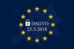 Datenschutz Grundverordnung fur Unternehmen DSGVO. General data protection regulation german mutation: Datenschutz Grundverordnung fur Unternehmen DSGVO Stock Images