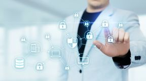 Datenschutz Internetsicherheits-Privatleben-Geschäfts-Internet-Technologie-Konzept lizenzfreies stockfoto