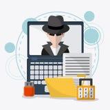 Datenschutz und Internetsicherheitssystem stock abbildung