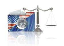 Datenschutz und Schutz-Gesetzeskonzept Lizenzfreies Stockbild