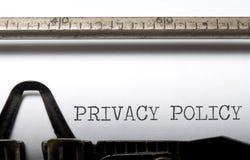 Datenschutzerklärung Lizenzfreie Stockfotografie
