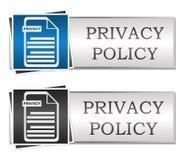 Datenschutzerklärungs-Blau Grey Button Style Lizenzfreie Stockbilder