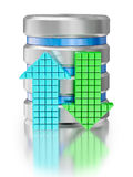 Datenspeicherungsdatenbank-Ikonensymbol des Festplattenlaufwerks Stockbild
