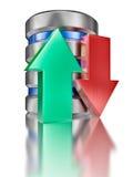 Datenspeicherungsdatenbank-Ikonensymbol des Festplattenlaufwerks Stockfotos