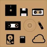 Datenspeicherungsgerät analog-digital lizenzfreie abbildung