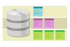 Datentabellenfragendatenbankindexsymbolvektor-Illustrationskonzept stock abbildung