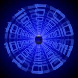 Datentunnel lizenzfreie abbildung