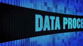 Datenverarbeitende Seite simsen das In einer Liste verzeichnen des LED-Wand-Anzeigetafel-Zeichen-Brettes stock footage