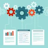 Datenverarbeitendes Konzept des Vektors in der flachen Art Lizenzfreies Stockbild