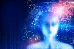 Datenverarbeitung, Cyberspace und Programmierungstapete lizenzfreie abbildung