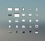 Datenverarbeitung technolgy und Anwendungsikonen Lizenzfreie Stockfotografie