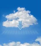 Datenverarbeitungsdownload der Wolke Lizenzfreies Stockfoto