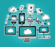 Datenverarbeitungsgraphiken der Wolke Lizenzfreies Stockbild