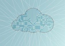 Datenverarbeitungsillustration der Wolke als abstrakter Hintergrund Lizenzfreie Stockfotos
