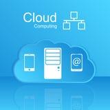 Datenverarbeitungskonzept der Vektorwolke. Moderner Entwurf Temp Lizenzfreie Stockbilder