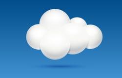 Datenverarbeitungskonzept der Wolke Lizenzfreie Stockbilder