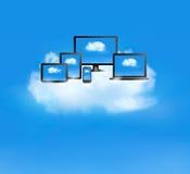 Datenverarbeitungskonzept der Wolke. Lizenzfreies Stockbild
