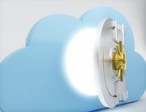Datenverarbeitungskonzept der Wolke Stockbilder