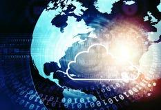 Datenverarbeitungskonzepthintergrund der Wolke Lizenzfreies Stockbild