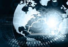 Datenverarbeitungskonzepthintergrund der Wolke Stockfotos