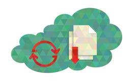 Datenverarbeitungskonzeptillustration der kreativen Wolke Lizenzfreies Stockbild