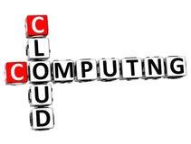 Datenverarbeitungskreuzworträtsel der Wolken-3D Lizenzfreies Stockfoto