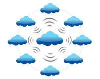 Datenverarbeitungsnetz der Wolke Lizenzfreie Stockfotografie