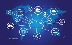 Datenverarbeitungsvektor der Wolke Lizenzfreies Stockbild