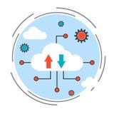 Datenverarbeitungsvektorkonzept der Wolke Stockfotografie