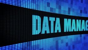 Datenverwaltungs-Seite simsen das In einer Liste verzeichnen des LED-Wand-Anzeigetafel-Zeichen-Brettes stock footage