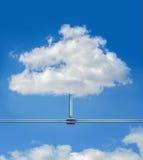 Datenwolke auf blauem Himmel Lizenzfreie Stockbilder