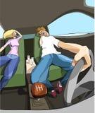 Dater dans la voiture Illustration Libre de Droits