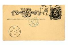 daterad vykort 1882 för antikvitet Arkivbilder