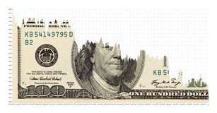 Daterar den fallande dollaren Arkivbilder