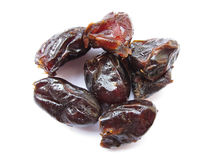 Dates. Some black dates which are good source of iron Stock Image