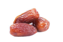 Dates. Sweet dates isolated over white background Royalty Free Stock Photos