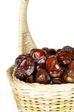 Dates in the basket Royalty Free Stock Photos
