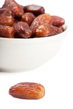 Dates in a bowl Stock Photography