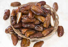 Dates in a bowl Royalty Free Stock Photos