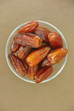 Dates in a bowl Royalty Free Stock Image