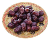 Dates on brass indian Royalty Free Stock Image