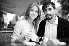 Dates in cafe Stock Photography