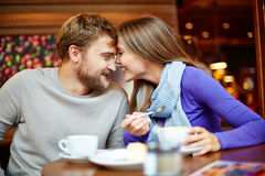 Dates in cafe Royalty Free Stock Image